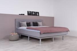 Wasserbett mit Schwebesockel + Topper + Wandpaneel Largo