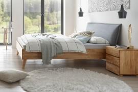 Wasserbett + Bettrahmen Woodline Premium 23 + Kopfteil Cussina + Füße Leno