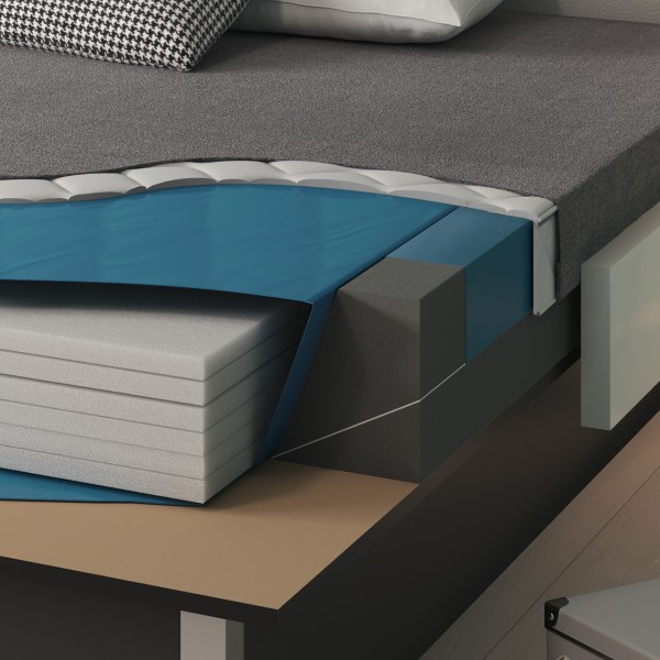Bezug für Wasserbetten mit Splitschaum