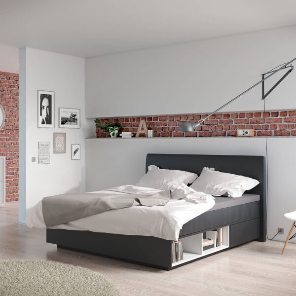 suma boxspring mit regal boxspring funktion. Black Bedroom Furniture Sets. Home Design Ideas