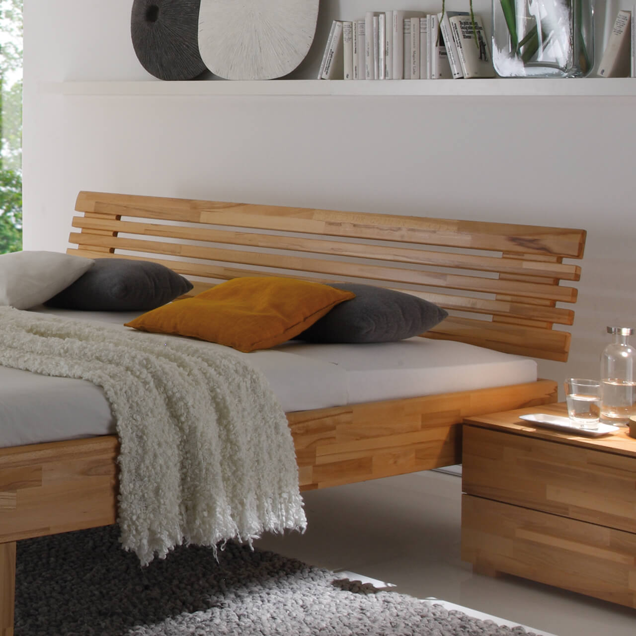 massiv holz kopfteile suma wasserbetten. Black Bedroom Furniture Sets. Home Design Ideas