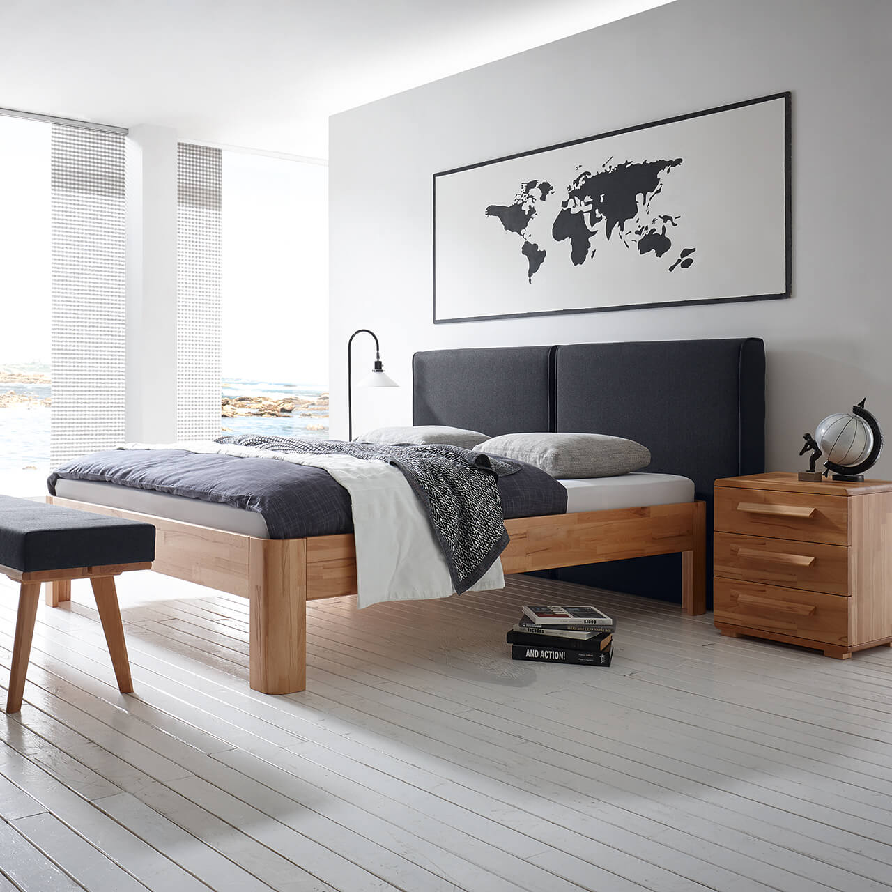 bettrahmen fine line syma auch f r suma wasserbetten. Black Bedroom Furniture Sets. Home Design Ideas