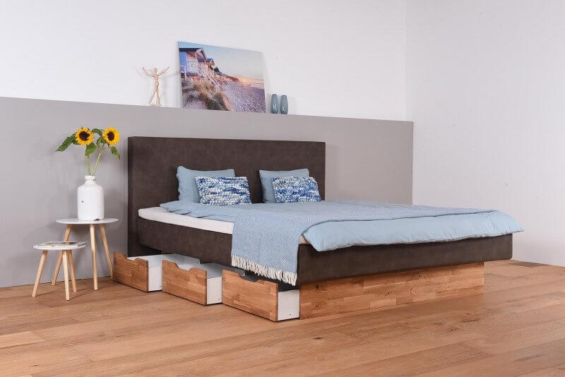 wasserbett mit schubk sten topper wandpaneel vincent suma wasserbetten. Black Bedroom Furniture Sets. Home Design Ideas