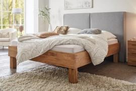 Wasserbett + Bettrahmen Oak Wild Cadro 23 + Wandpaneel Almeno XL + Füße Ivio