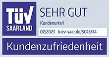 TUV Saarland Kundenzufriedenheit - SEHR GUT!