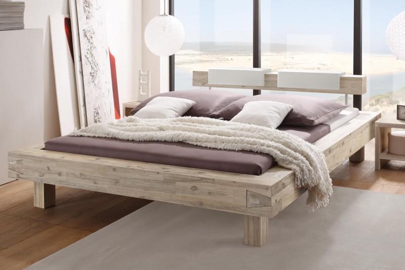 Wasserbett + Bettrahmen Factory Fragmento + Kopfteil Balco + Kissen Nakio + Füße Ivio
