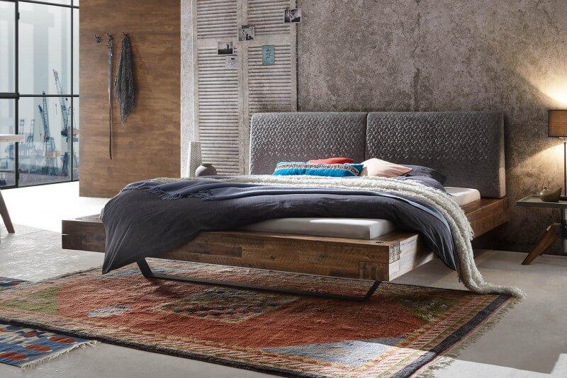 Wasserbett + Bettrahmen Factory Loft + Kopfteil Opera + Füße Slid