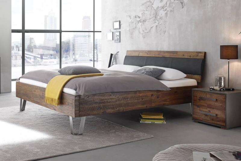 Wasserbett + Bettrahmen Factory Dallas + Kopfteil Coria + Füße Jeno