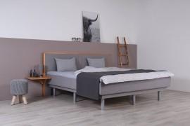 Wasserbett mit Schwebesockel + Topper + Nachttischablage + Wandpaneel Duetto V