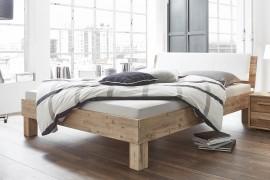 Wasserbett + Bettrahmen Factory Fremo 18 + Kopfteil Varus + Kissen Ravo + Füße Ivio