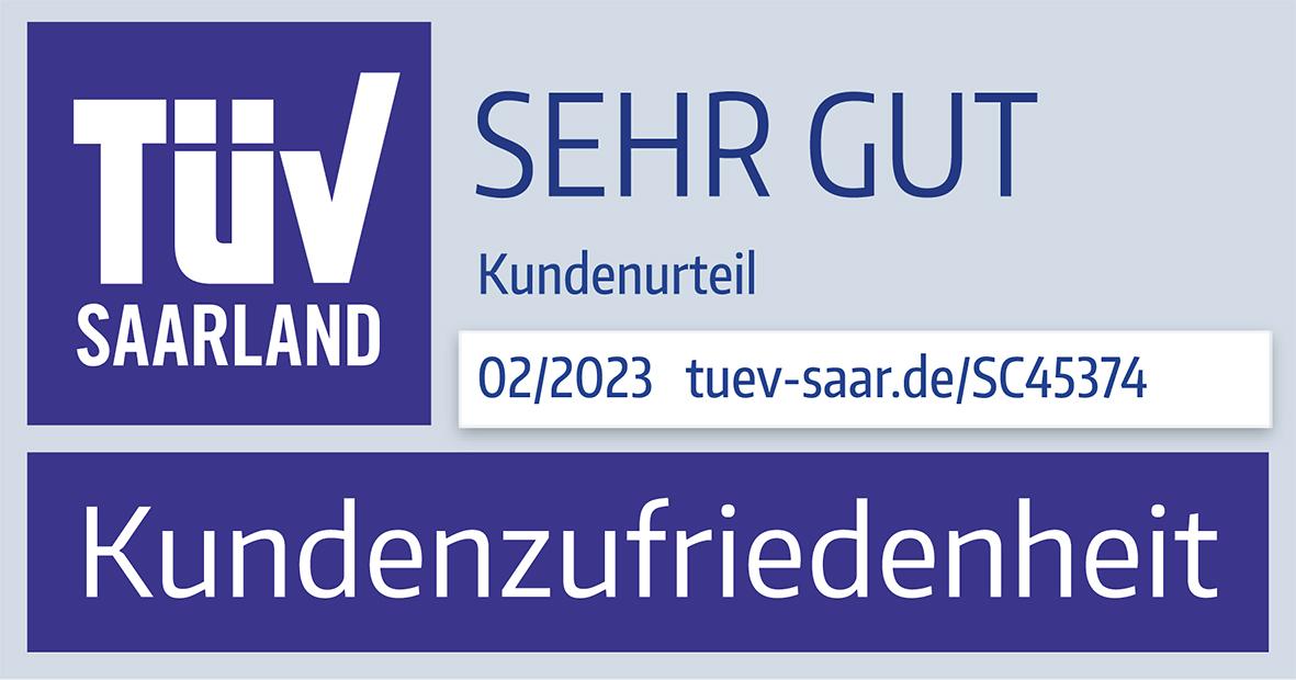 TÜV Saarland - Kundenzufriedenheit: sehrgut