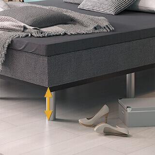 Sockelhöhen für Wasserbetten Schwebesockel Sockel