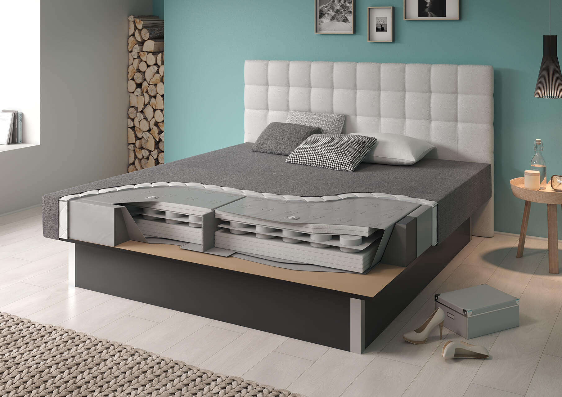 wasserbett platin dual das beste das stabilste das sicherste wasserbett suma wasserbetten. Black Bedroom Furniture Sets. Home Design Ideas