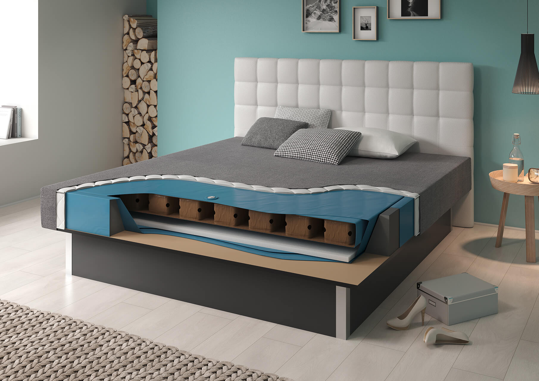 wasserbett flexx mono ein leben lang flexibel stufenlos einstellbar suma wasserbetten. Black Bedroom Furniture Sets. Home Design Ideas