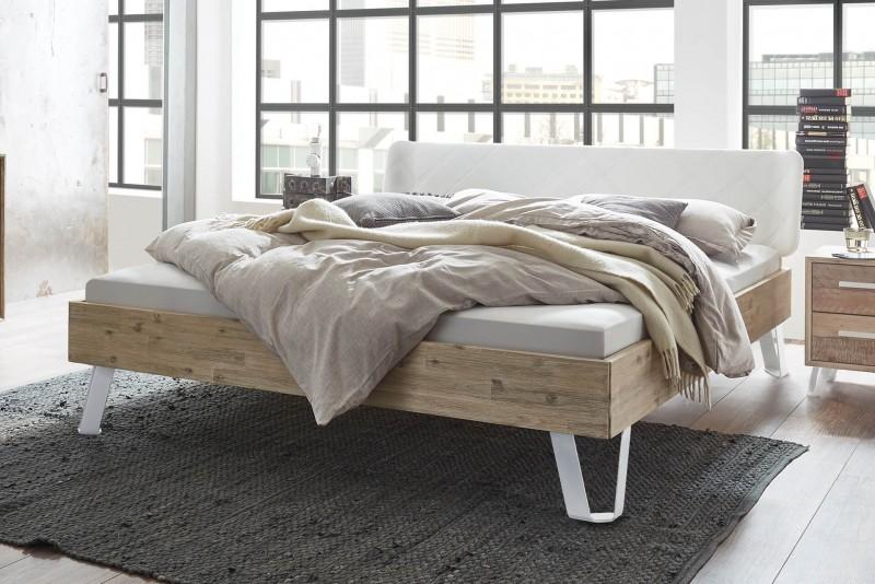 Wasserbett + Bettrahmen Factory Fremo 18 + Kopfteil Gabo + Füße Jeno