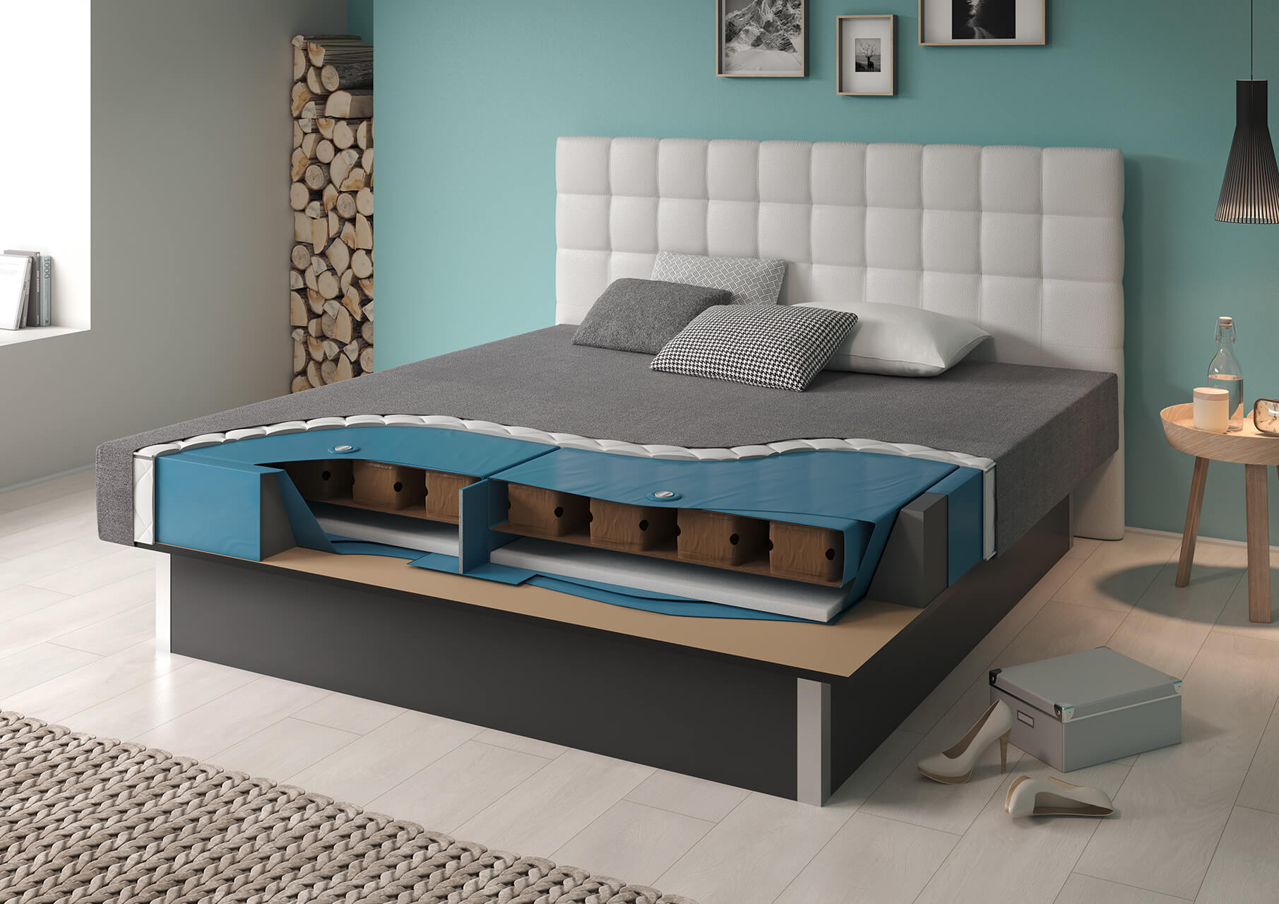 wasserbett flexx dual ein leben lang flexibel stufenlos einstellbar suma wasserbetten. Black Bedroom Furniture Sets. Home Design Ideas