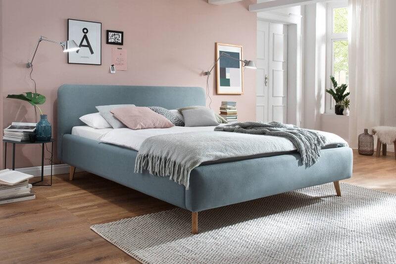 Eisblau - Wasserbett mit komplettem Zubehör + Polsterbett Fano