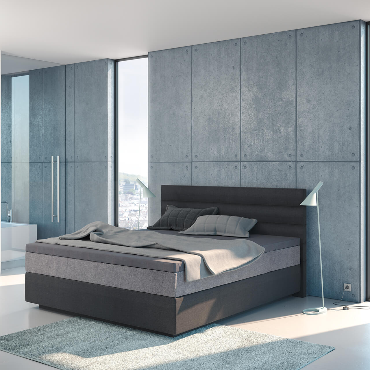 suma boxspring wasserbett topper hoher einstieg suma. Black Bedroom Furniture Sets. Home Design Ideas